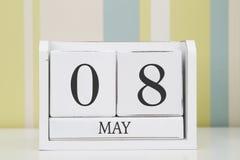 Ημερολόγιο μορφής κύβων για την 8η Μαΐου Στοκ φωτογραφία με δικαίωμα ελεύθερης χρήσης
