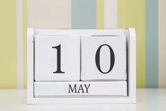 Ημερολόγιο μορφής κύβων για την 10η Μαΐου Στοκ Φωτογραφίες