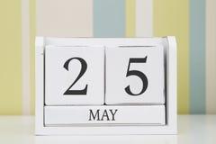 Ημερολόγιο μορφής κύβων για την 25η Μαΐου Στοκ εικόνες με δικαίωμα ελεύθερης χρήσης
