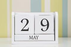 Ημερολόγιο μορφής κύβων για την 29η Μαΐου Στοκ Φωτογραφίες