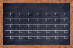 Ημερολόγιο πινάκων κιμωλίας για το σπίτι ή την οργάνωση γραφείων Στοκ φωτογραφία με δικαίωμα ελεύθερης χρήσης