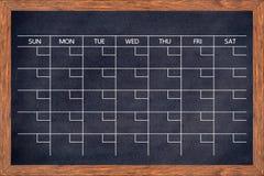 Ημερολόγιο πινάκων κιμωλίας για το σπίτι ή την οργάνωση γραφείων Στοκ Φωτογραφία