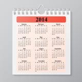 Ημερολόγιο τοίχων με την άνοιξη Στοκ Εικόνες