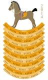 ημερολόγιο του 2014 με λίγο άλογο Στοκ Φωτογραφία