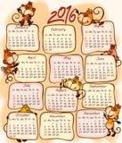 Ημερολόγιο 2016 του νέου έτους Στοκ Φωτογραφία