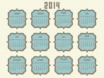 ημερολόγιο του 2014 Στοκ Εικόνες