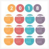 ημερολόγιο του 2018 Στοκ Εικόνες