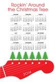 2014 ημερολόγιο Χριστουγέννων ελεύθερη απεικόνιση δικαιώματος