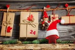 Ημερολόγιο Χριστουγέννων Στοκ Φωτογραφίες