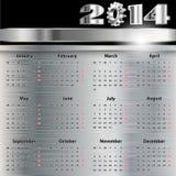 Ημερολόγιο 2014. Στοκ εικόνες με δικαίωμα ελεύθερης χρήσης