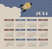 Ημερολόγιο 2014 Στοκ εικόνα με δικαίωμα ελεύθερης χρήσης