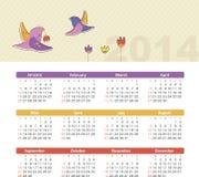 Ημερολόγιο 2014 Στοκ Εικόνα