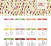 Ημερολόγιο 2014 Στοκ φωτογραφίες με δικαίωμα ελεύθερης χρήσης