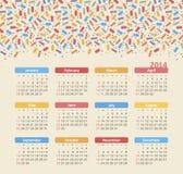 Ημερολόγιο 2014 Στοκ εικόνες με δικαίωμα ελεύθερης χρήσης
