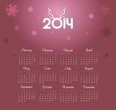 Ημερολόγιο 2014 Στοκ Εικόνες