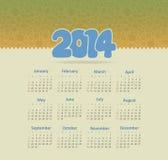 Ημερολόγιο 2014 Στοκ Φωτογραφίες