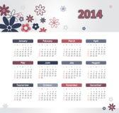 Ημερολόγιο 2014 Στοκ φωτογραφία με δικαίωμα ελεύθερης χρήσης