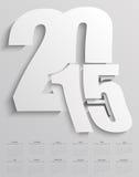 2015 ημερολόγιο Στοκ Εικόνες