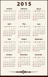 2015 ημερολόγιο Στοκ Φωτογραφίες