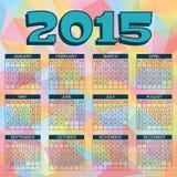 Ημερολόγιο 2015 Στοκ Εικόνα
