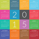Ημερολόγιο 2015 Στοκ Εικόνες