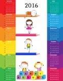 Ημερολόγιο 2016 διανυσματική απεικόνιση