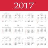 Ημερολόγιο 2017 Στοκ εικόνες με δικαίωμα ελεύθερης χρήσης