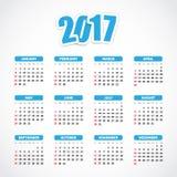 Ημερολόγιο 2017 ελεύθερη απεικόνιση δικαιώματος