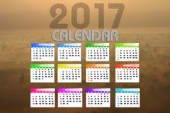 2017 ημερολόγιο Backgronds Στοκ Φωτογραφία