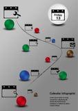 Ημερολόγιο Infographic Στοκ Εικόνες