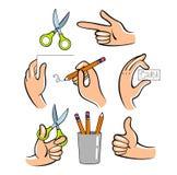 δημιουργήστε τα χέρια πώς οδηγία απεικόνισης sth στο χρήσιμο διάνυσμα Στοκ εικόνες με δικαίωμα ελεύθερης χρήσης
