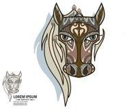 Δημιουργικά λογότυπο και brandbook στοιχεία με το άλογο Στοκ Φωτογραφία