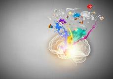 δημιουργική σκέψη Στοκ Εικόνα