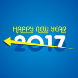 Δημιουργικός νέος χαιρετισμός έτους για το 2017 Στοκ Εικόνες
