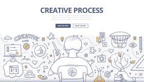 Δημιουργικό σχέδιο Doodle διαδικασίας Στοκ Εικόνες
