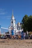 ημιτελικό volley πρωταθλημάτων φορέων Στοκ φωτογραφία με δικαίωμα ελεύθερης χρήσης