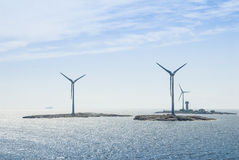 Ημι παράκτιο windfarm… έδαφος Ã Στοκ Εικόνα