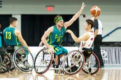 Ημι τελικό πρωταθλήματος καλαθοσφαίρισης παγκόσμιων αναπηρικών καρεκλών Στοκ φωτογραφίες με δικαίωμα ελεύθερης χρήσης