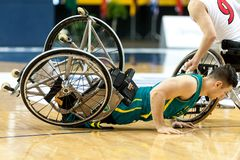 Ημι τελικό πρωταθλήματος καλαθοσφαίρισης παγκόσμιων αναπηρικών καρεκλών Στοκ φωτογραφία με δικαίωμα ελεύθερης χρήσης