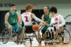 Ημι τελικό πρωταθλήματος καλαθοσφαίρισης παγκόσμιων αναπηρικών καρεκλών Στοκ Φωτογραφίες