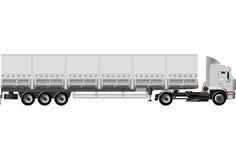ημι διάνυσμα truck φορτίου Στοκ Φωτογραφίες