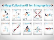 Δημογραφικό διάγραμμα στοιχείων Infographic και γραφικός Στοκ εικόνα με δικαίωμα ελεύθερης χρήσης