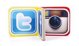 δημοφιλή κοινωνικά λογότυπα μέσων Στοκ Εικόνες