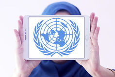 Ηνωμένα Έθνη, έμβλημα λογότυπων των Η.Ε Στοκ φωτογραφία με δικαίωμα ελεύθερης χρήσης