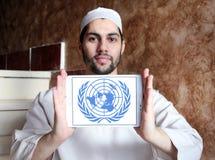 Ηνωμένα Έθνη, έμβλημα λογότυπων των Η.Ε Στοκ εικόνες με δικαίωμα ελεύθερης χρήσης