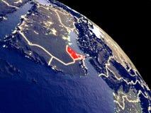 Ηνωμένα Αραβικά Εμιράτα από το διάστημα ελεύθερη απεικόνιση δικαιώματος