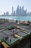 Ηνωμένα Αραβικά Εμιράτα, Ντουμπάι, 06/07/2015, εργοτάξιο ανάπτυξης ξενοδοχείων αντιβασιλέων στο φοίνικα, Ντουμπάι Στοκ Εικόνα