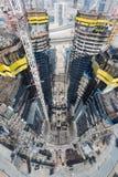 Ηνωμένα Αραβικά Εμιράτα, Ντουμπάι, 05/21/2015, πύργοι Ντουμπάι Damac με το Παραμάουντ, την κατασκευή και την οικοδόμηση Στοκ φωτογραφίες με δικαίωμα ελεύθερης χρήσης