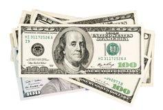 Ηνωμένα δολάρια, απομονώνω σε ένα λευκό Στοκ φωτογραφία με δικαίωμα ελεύθερης χρήσης