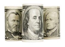 Ηνωμένα δολάρια απομονώνω στο λευκό Στοκ φωτογραφία με δικαίωμα ελεύθερης χρήσης
